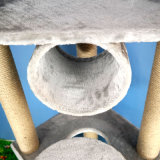 Torre de los muebles del árbol del gato, árbol Scratcher del gato de la actividad de Climbling