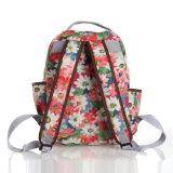 Великобританский флористический водоустойчивый Backpack школы холстины PVC (99042)