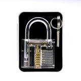 Cadeado transparente da prática com as ferramentas de Lockpicking do cartão 5PCS (1 combinado)