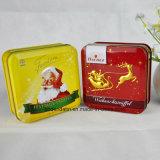 De Verpakkende Doos van de Gift van het Metaal van de douane, de Verpakking van de Gift van Kerstmis, de Doos van het Tin van Kerstmis