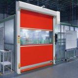 Промышленная дверь штарки завальцовки PVC высокоскоростная (HF-J66)