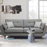 Nordisches Wohnzimmer-Leder-Gewebe-Sofa