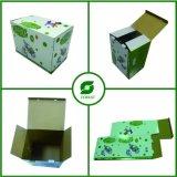 Brillantes plegables crean la caja de cartón para requisitos particulares fabrican