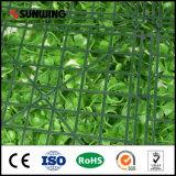Пластичная зеленая искусственная панель в реальном маштабе времени загородки для украшения