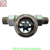 Indicador del flujo de aire del vidrio de vista del tubo de acero