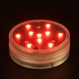Основания вазы 10 СИД освещаемый батареей RGB СИД с светильником погружающийся СИД дистанционного управления для Xmas свадебного банкета