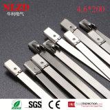 Il legame d'acciaio di formato delle fascette ferma-cavo di punte d'acciaio d'acciaio differenti della chiusura lampo sposta il CE RoHS diplomato