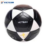 Fútbol de cuero inflable blanco y negro robusto