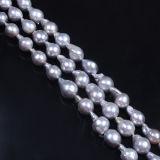 Покрашенная стренга перлы цвета серая барочная