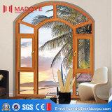 Окно Casement классического двойника конструкции стеклянное алюминиевое сделанное в Китае