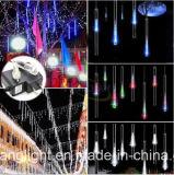 indicatori luminosi del tubo della pioggia dell'acquazzone di meteora di natale di RoHS LED del Ce della garanzia di alta qualità 2years di 8PC/Set 240LEDs