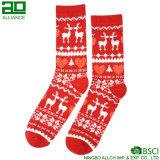 Calcetines rojos respirables al por mayor de la Navidad