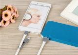 2017 câbles usb plats tendants 2 de caractéristiques micro douces de bande de produits dans 1 câble usb de remplissage à grande vitesse