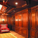 Panneautage en bois décoratif de revêtement de mur de type américain (GS11-004)