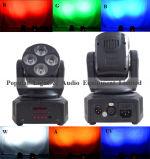 Club/DJ/Bar 가벼운 4PCS 10W/18W 밝은 LED 세척 이동하는 맨 위 빛