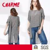 Blusa asimétrica Chiffon de la ropa de la Sun-Prueba de la raya de la manera de las señoras
