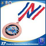 Медаль спорта заливки формы античной покрынное медью