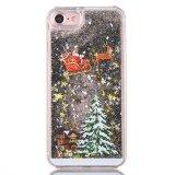 크리스마스 장식 선물 iPhone 7 케이스를 위한 액체 반짝임 유사 이동 전화 상자