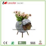 Decorativas de jardín de metal Estatua de la tortuga Macetas para Césped Decoración