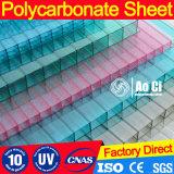 Folha colorida do policarbonato para a telhadura