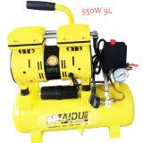 compresseur d'air à C.A. de vis de défilement exempt d'huile de 9L 550W mini