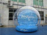 Globo inflável gigante da neve, globo humano da neve do tamanho para anunciar