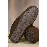 Deslizadores do Moccasin de Brown das sapatas ocasionais dos homens do couro genuíno