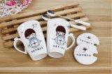 Tazas barato impresas de Liling 12oz de las ventas al por mayor con la etiqueta