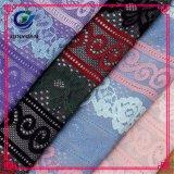 Tessuto poco costoso Rolls del merletto della maglia del poliestere floreale 100