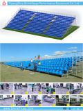 競技場の観覧席の引き込み式の体操の観覧席