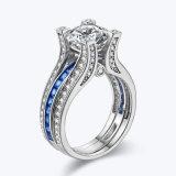 Blauwe Bedekte het Stapelen Ringen