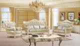Wohnzimmer-Set-klassisches hölzernes Eichen-Empfang-Leder-Sofa (UL-NS088)