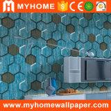 Papier peint en pierre de PVC de la qualité supérieur 3D pour des murs
