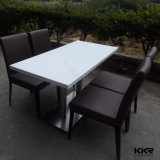 4 таблицы Seater роскошных искусственних мраморный верхних обедая