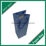 Brillantes del vino blanco de papel de embalaje bolsas con asas