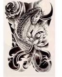 Autoadesivo provvisorio impermeabile del tatuaggio di disegno del fiore della carpa