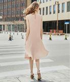 La robe sans manche de Rond-Collet des femmes roses simples de queue de poisson