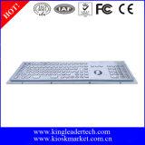 Клавиатура нержавеющей стали с ключами номера и оптически Trackball
