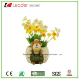Potten van de Planter van Polyresin de Decoratieve Kleine met het Standbeeld van de Hond voor de Decoratie van de Tuin