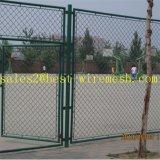 Cerca revestida Chain da ligação Chain de ligação Fencing/PVC do estádio do basquetebol