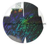 Lustrando a película com teste padrão 3D para cópias do tonalizador de Digitas