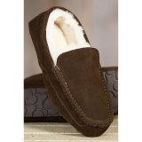 Hombres de cuero de piel de oveja conduciendo zapatos Loafer