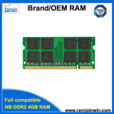 De RAM 16chips Cl6 200pin SODIMM van de lage Dichtheid 256MB*8 DDR2 4GB