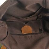 Sacos da trouxa da escola da forma da lona e do couro de três cores (RS-104-1)