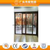 Sistema aislado de aluminio de la ventana de cristal de la ventana de desplazamiento del grano de madera