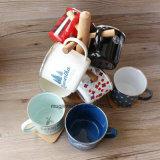 La fábrica vende al por mayor la taza de café de la taza de la leche de la taza del esmalte para el aire libre para el regalo para el anuncio