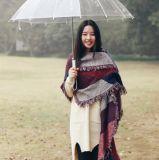 As mulheres da forma aquecem o lenço geral da caxemira do inverno de Tessel