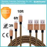 cable de carga rápido del USB de los datos de la sinc. del 1m/2m/3m para el iPhone