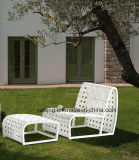 シンプルな設計のロープの&Aluminumフレーム(YT996)とセットされるヨーロッパの普及した屋外のテラスのソファー