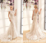 Reizvolle Nixe-Brautkleid-Spitze-Schärpe-lange Hochzeits-Kleider Z2063